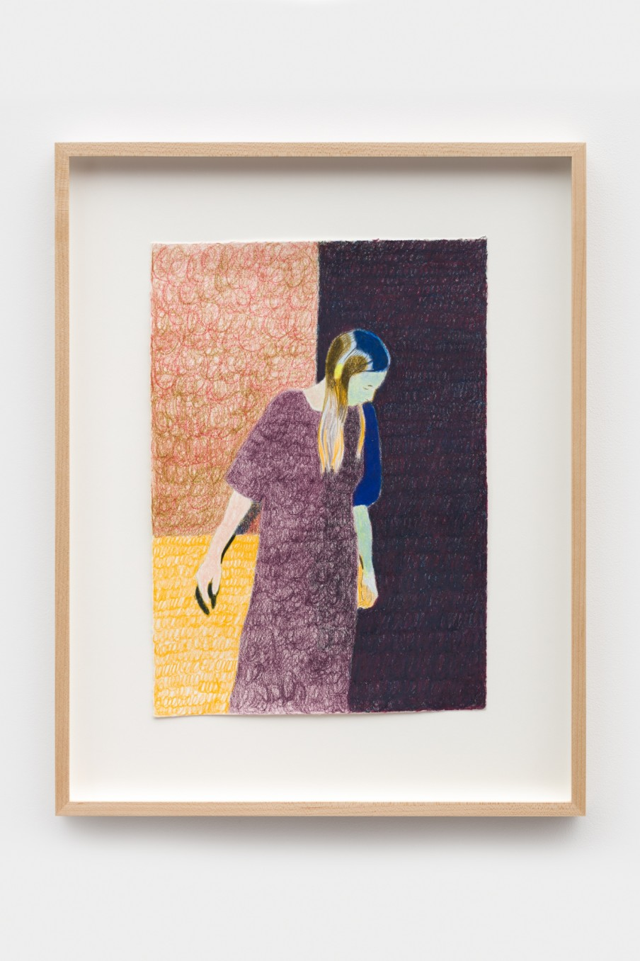 Anthony Cudahy Dress, 2021 Colored pencil on paper Image: 35.6 x 25.4 cm 14 x 10 in Frame: 50.4 x...