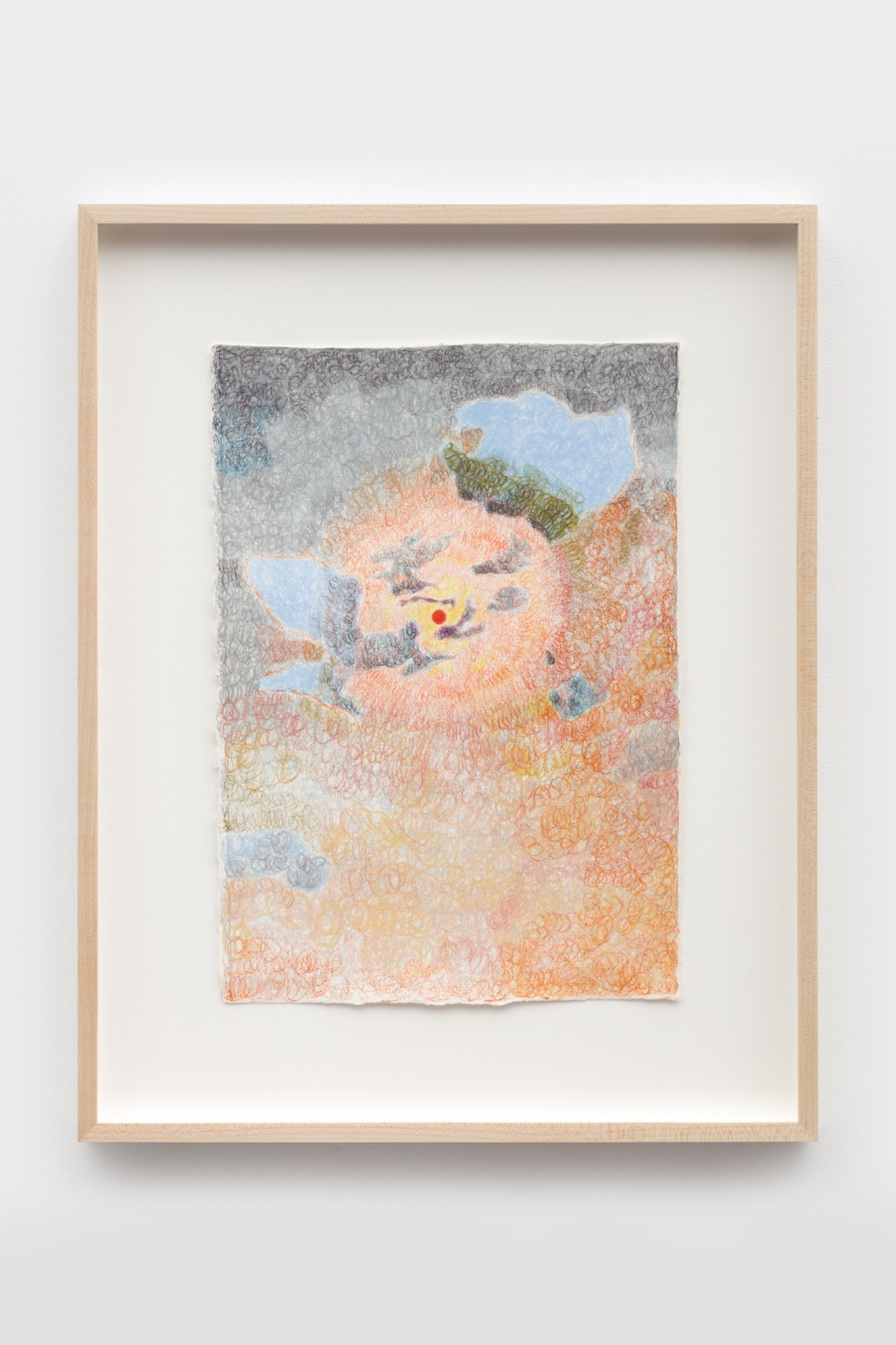 Anthony Cudahy Wildfire sky (NYC), 2021 Colored pencil on paper Image: 35.6 x 25.4 cm 14 x 10 in Frame:...