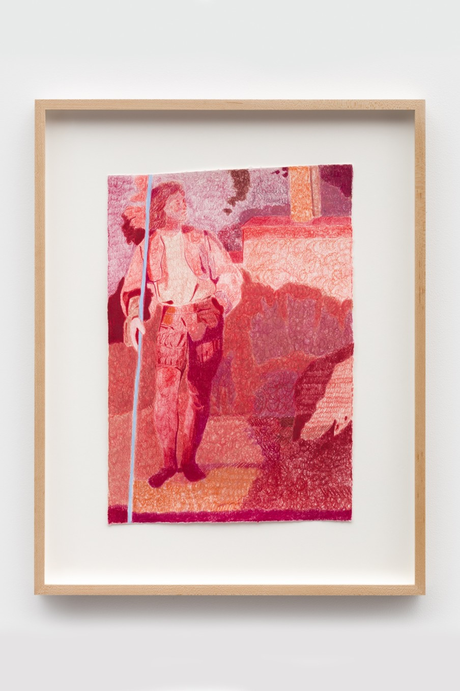 Anthony Cudahy fr the Tempest, 2021 Colored pencil on paper Image: 35.6 x 25.4 cm 14 x 10 in Frame:...
