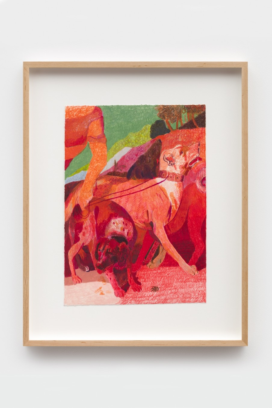 Anthony Cudahy fr Venus and Adonis, 2021 Colored pencil on paper Image: 35.6 x 25.4 cm 14 x 10 in...
