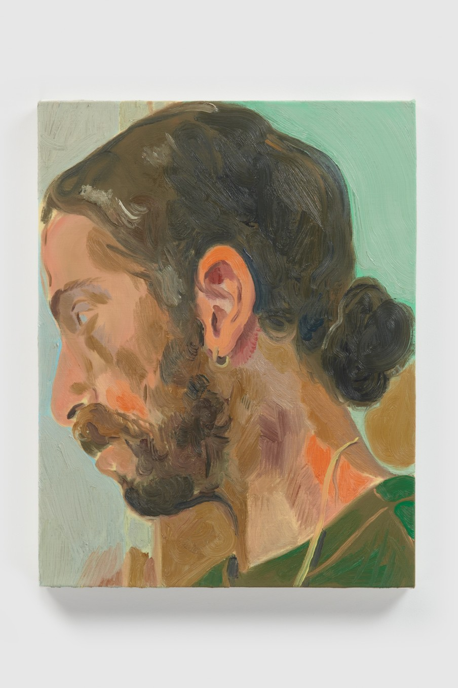 Anthony Cudahy Ian profile, 2021 Oil on linen 46 x 36 x 3 cm 18 1/8 x 14 1/8 x...