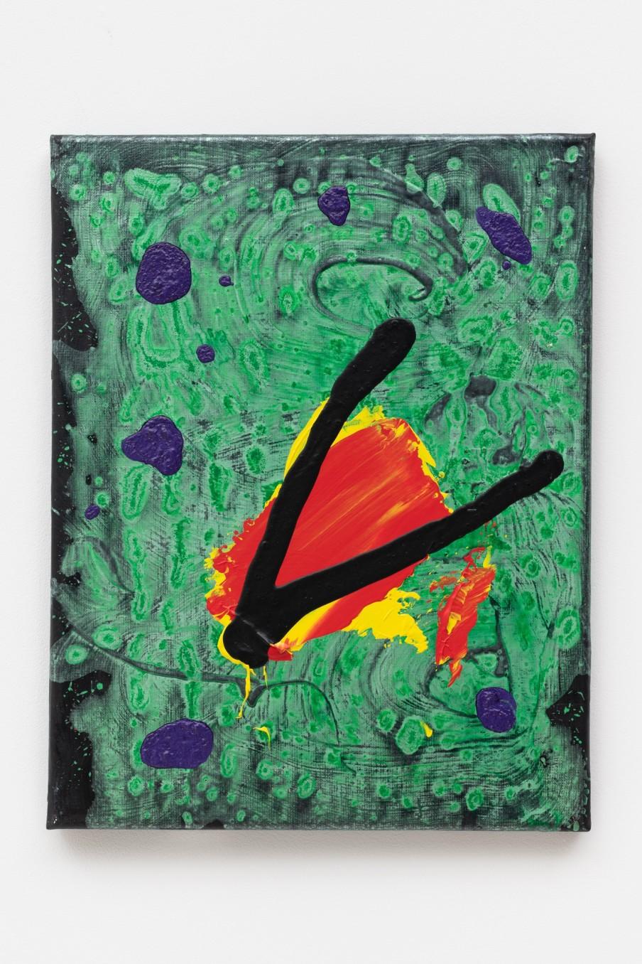 John Hoyland Damsel's Wing 25.9.05, 2005 Acrylic on canvas 45.7 x 35.6 cm 18 x 14 in