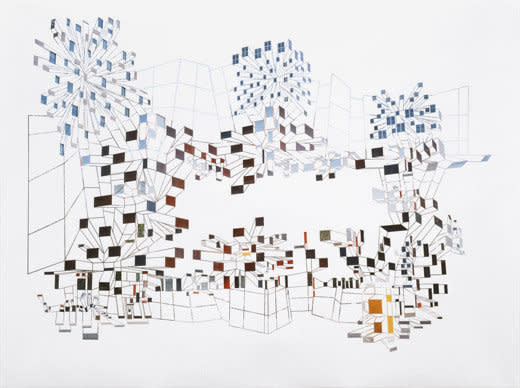 Richard Galpin, Cluster IV Sporopolis, 2006, Peeled photograph, 100 x 135 cm, 39.4 x 53.19 in