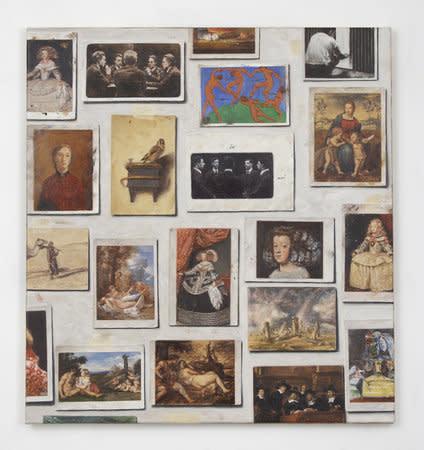 Filippo Caramazza, A wall in Naples - Studio wall, 2009, Oil on linen, 66 x 61 cm, 26 x 24 in