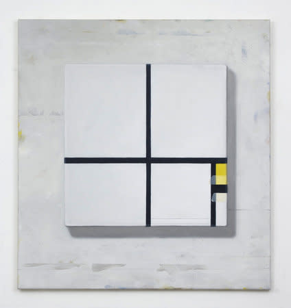 Filippo Caramazza, Under Construction, 2009, Oil on linen, 76.2 x 71.1 cm, 30 x 28 in