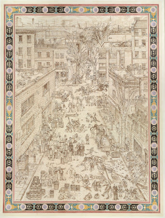 Adam Dant, British Drinking, 2010, Ink on paper, 200.5 x 256.5 cm, 79 x 101.06 in