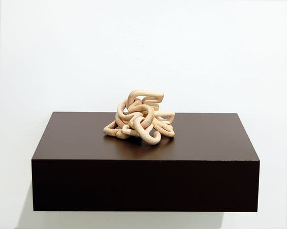 Jane Wilbraham, It's No Use, 2010, sycamore, 12x15x8cm