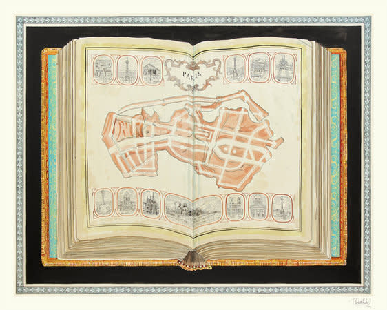 Paris; Bones of Liberty, 2012, Ink on paper, 181x236cm
