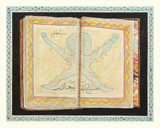 The Nerves of Istanbul (Golden Horn, Bosphorous, Marmara), 2012, Ink on paper, 181x236cm