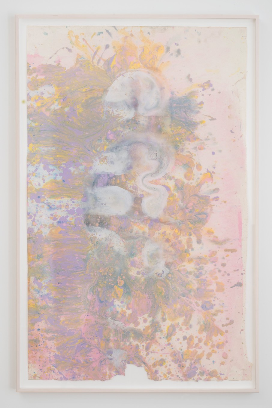 Frank Bowling Vase, 1985 Acrylic on paper Framed: 120 x 77 cm 47 1/4 x 30 1/4 in