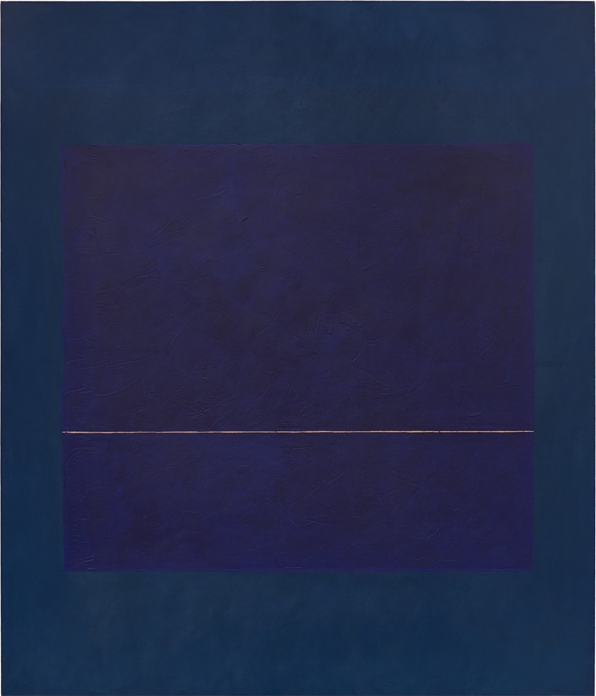 Virginia Jaramillo, Blue Space, 1974, Oil on canvas, 208.3 x 177.8 cm, 82 x 70 in