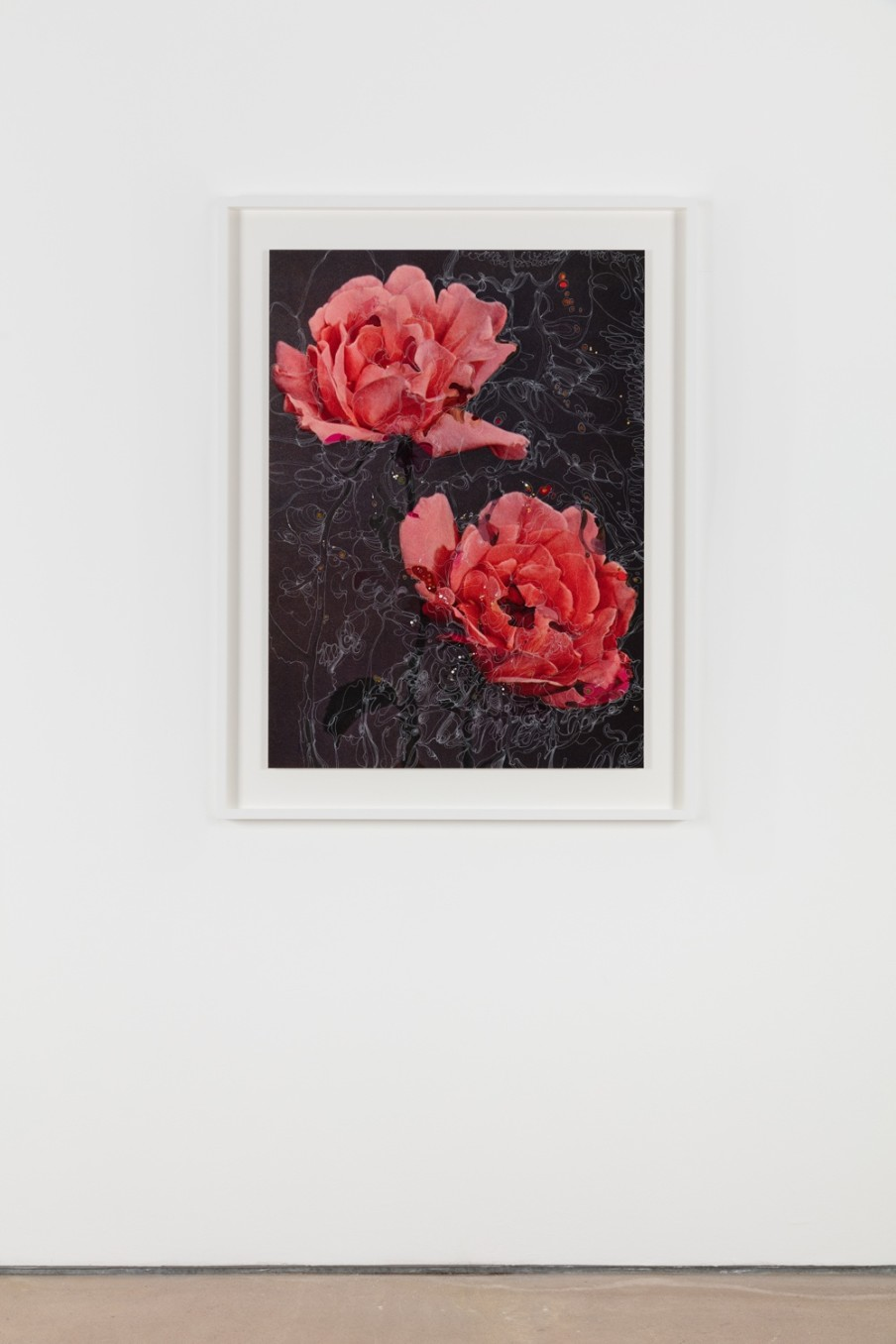 Sebastiaan Bremer, Rose Juliette Fernanda van Beuningen, 2018, Archival inkjet pigment print on resin coated paper with hand additions in acrylic, photo retouch dye, and pigment pen, 101.6 x 73.3 cm, 40 x 28 7/8 in, Framed: 121 x 92.9 x 5 cm, 47 5/8 x 36