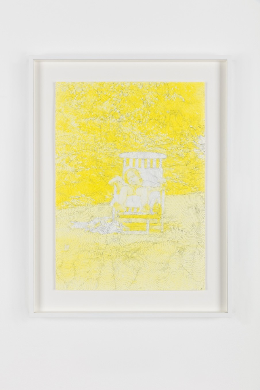 Sebastiaan Bremer, Yellow Lead, 2017, Epson hot press matte paper with pigment ink, 48.3 x 34 cm, 19 x 13 3/8 in, Framed: 56 x 43.3 x 3.7 cm, 22 1/8 x 17 1/8 x 1 1/2 in