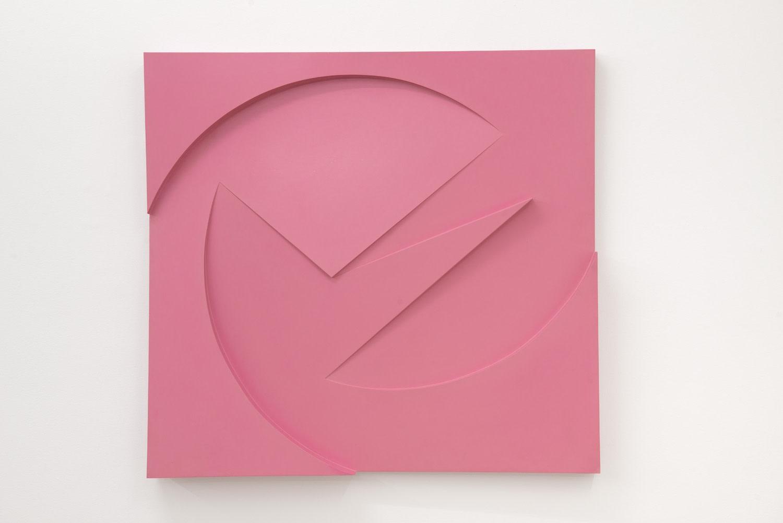 Garth Evans, Pink Relief, 1963, Polyurethane on board, 115.8 x 123 x 10.7 cm, 45 5/8 x 48 3/8 x 4 1/4 in