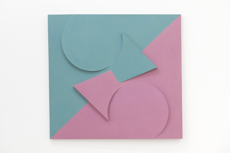 Garth Evans, Red-Green, 1964, Acrylic on board, 115 x 123.2 x 9 cm, 45 1/4 x 48 1/2 x 3 1/2 in