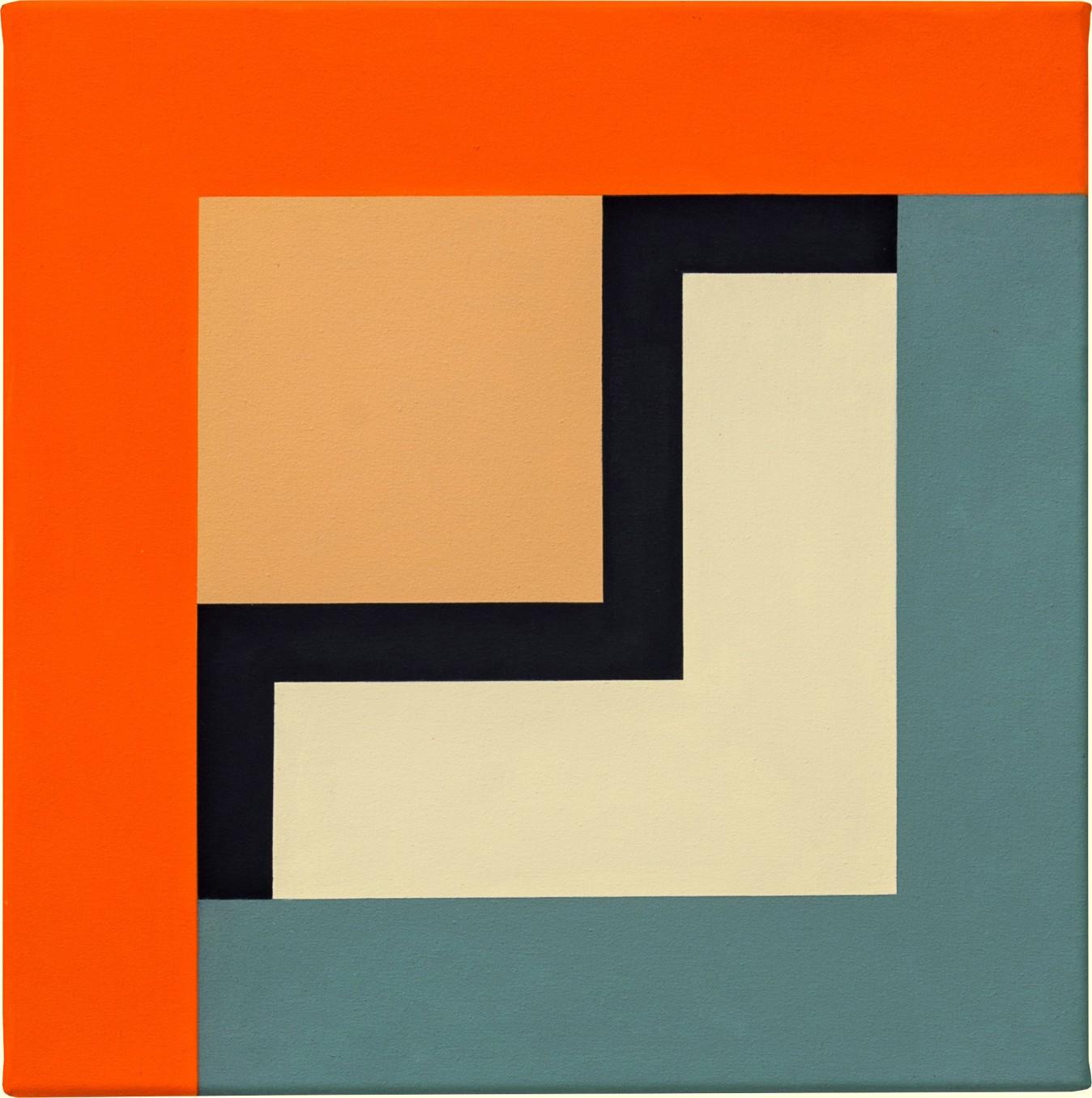 Mary Webb, UTAH IX, 2013, Oil on canvas, 45 x 45 cm, 17 3/4 x 17 3/4 in, Framed: 54.5 x 54.5 x 4 cm, 21 1/2 x 21 1/2 x 1 5/8 in