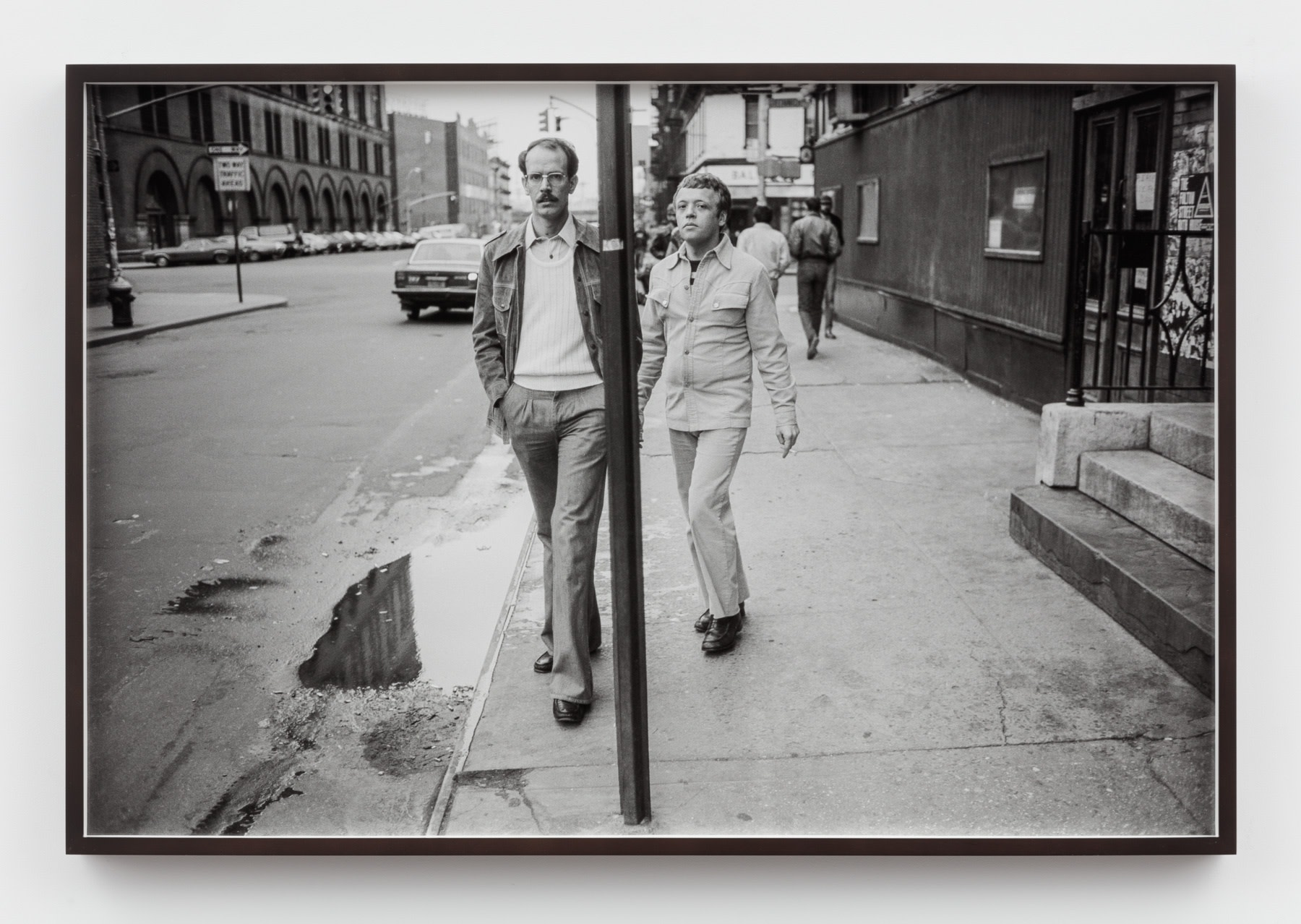 Sunil Gupta, Untitled #18 from the series Christopher Street, 1976/2019, Silver gelatin print, 61.1 x 91.7 cm, 24 1/8 x 36 1/8 in, Framed: 63.2 x 93.7 cm, 24 7/8 x 36 7/8 in, Edition of 5 plus 1 artist's proof