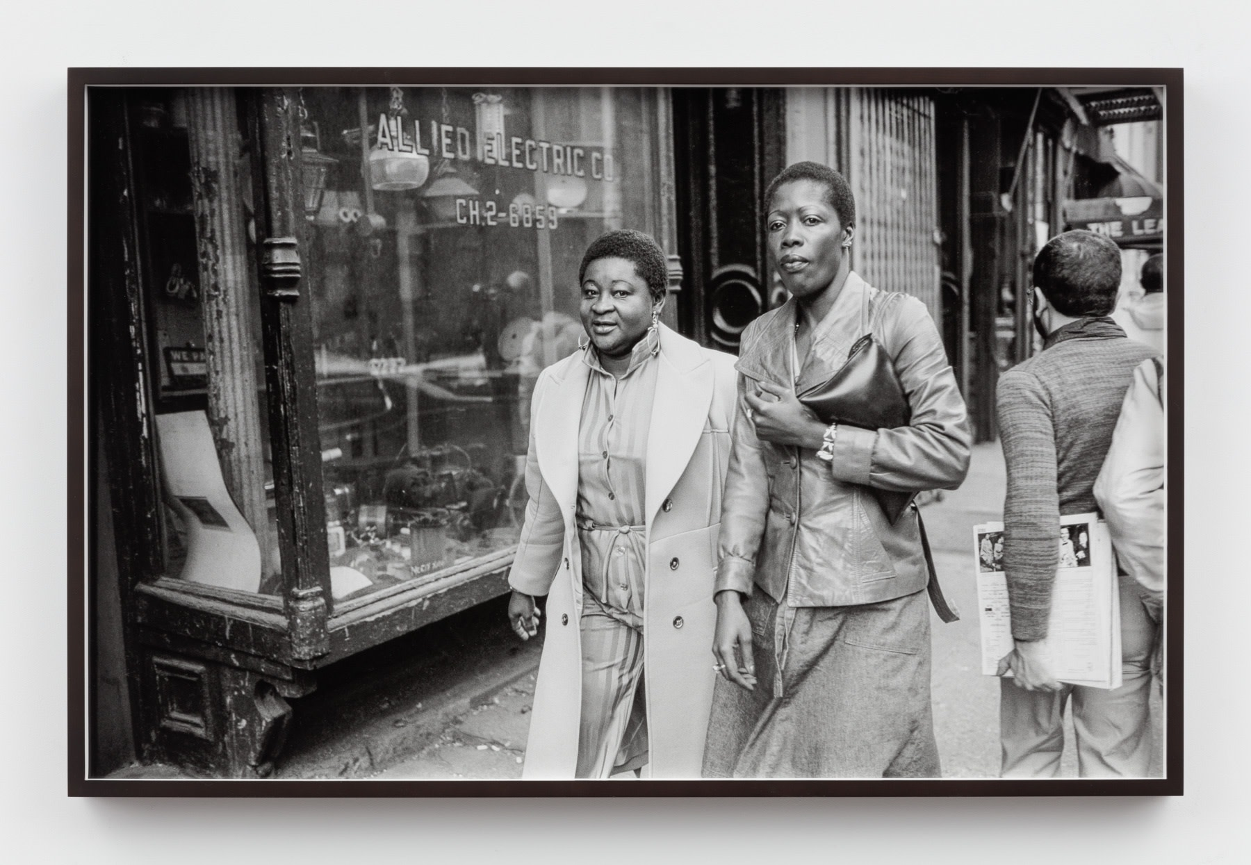 Sunil Gupta, Untitled #50 from the series Christopher Street, 1976/2019, Silver gelatin print, 59 x 91.7 cm, 23 1/4 x 36 1/8 in, Framed: 61.1 x 93.7 cm, 24 1/8 x 36 7/8 in, Edition of 5 plus 1 artist's proof