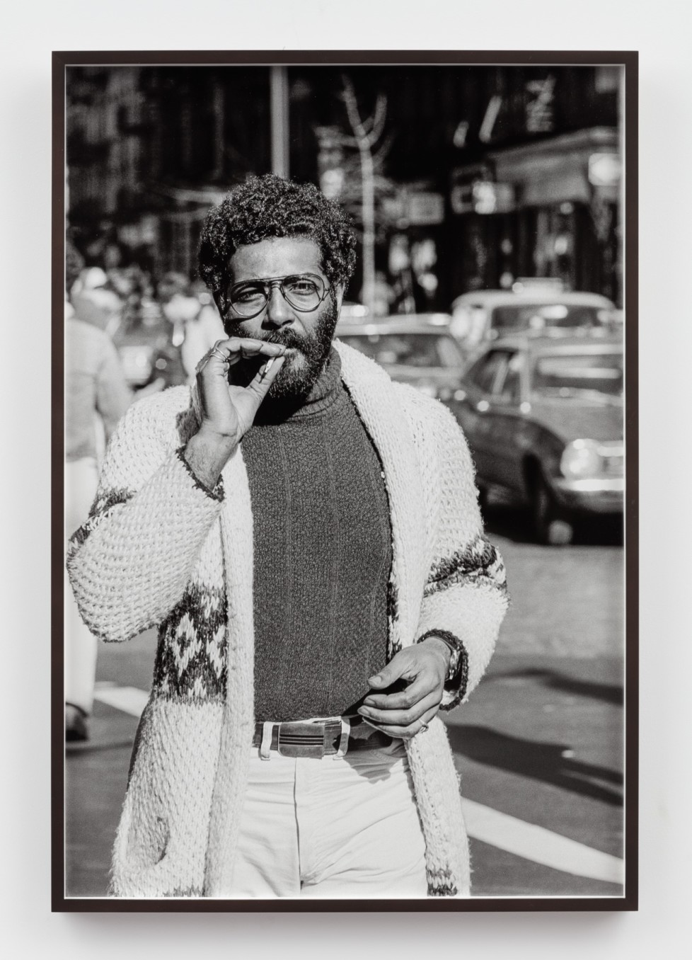 Sunil Gupta, Untitled #59 from the series Christopher Street, 1976/2019, Silver gelatin print, 91.5 x 61.6 cm, 36 1/8 x 24 1/4 in, Framed: 93.5 x 63.7 cm, 36 7/8 x 25 1/8 in, Edition of 5 plus 1 AP