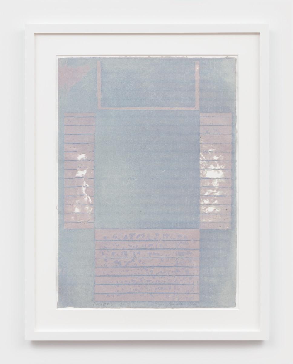 Virginia Jaramillo Foundations 312, 1982 Linen fiber with hand-ground earth pigments 87.6 x 62.2 cm 34 1/2 x 24 1/2...