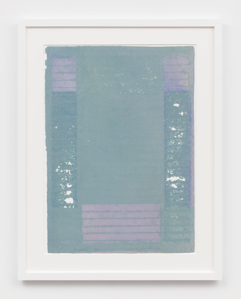 Virginia Jaramillo Foundations 367, 1982 Linen fiber with hand-ground earth pigments 87.6 x 62.2 cm 34 1/2 x 24 1/2...