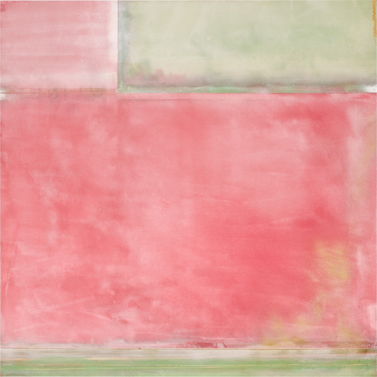 Detail of Frank Bowling, Yonder II, 1972, acrylic on canvas, 173 x 173 cm, 68 1/8 x 68 1/8 in