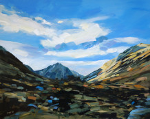 Colin Cook, Looking along Glen Sannox - Arran