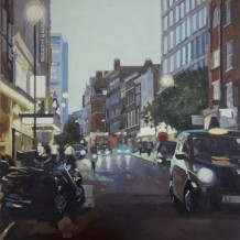 Jennifer Greenland, St Martin's lane at dusk