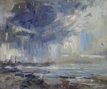 """Gareth Parry RCA Born 1951SUMMER STORM CLEARING Oil on canvas 24""""X20"""""""