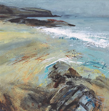 Jo Ellis LAPPING TIDE II Mixed media 26 x 26cm