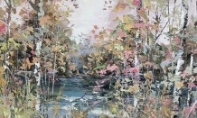 Paul Treasure Born 1961 SILENT RIVER Oil on canvas 65 X 100cm