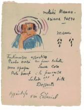 Paul Gauguin, Ariana Taero (Menu), c. 1899-1901