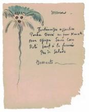 Paul Gauguin, Palmier (Menu), c. 1899-1901