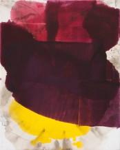Dirk De Bruycker  Small Three, 2014  Asphalt, cobalt drier, gesso and oil on cotton duck canvas  30 x 24 inches (76.2 x 61 cm)