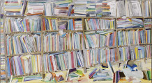 Thomas Hartmann  Ohne Titel (Berliner Zimmer) / Without Title (Berlin Room), 2014  Oil on canvas  43 1/4 x 78 3/4 inches 110 x 200 cm