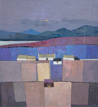 """Mary Pym  Born 1935EVENING, DONEGAL  Oil on board  20"""" X 22"""""""
