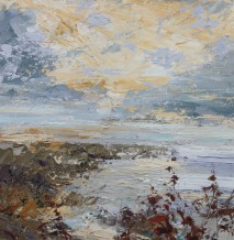"Paul Treasure Born 1961SELSEY BILL Oil on canvas 24"" x 24"""