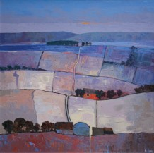 """Mary Pym  Born 1935EARLY MORNING  Oil on board  24"""" X 24"""""""
