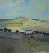 """Mary Pym  Born 1935BY THE SOUTH DOWNS  Oil on board  21"""" X 20"""""""