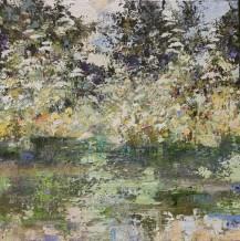 "Paul Treasure Born 1961PARSLEY AND CHALK Oil on canvas 40"" x 40"""
