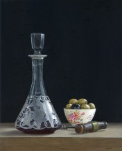 "Tim Gustard Born 1954FRESHLY DECANTED Acrylic 10.5"" x 9"""