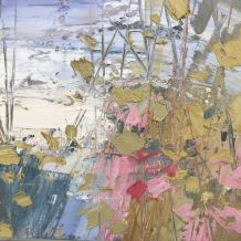 "Paul Treasure  Born 1961REEDS  Oil on canvas  12"" X 12"""
