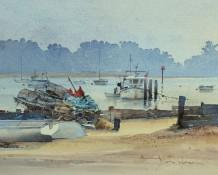 David Howell Born 1939FELIXSTOWE FERRY Watercolour