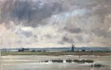 "Alice Boggis-Rolfe  NORFOLK BROADS  Oil on Panel  11"" X 16"""