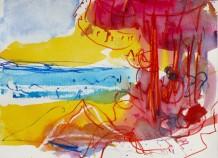 """Sophie Bartlett Born 1962BURGAU BEACH I Watercolour 10"""" x 14"""""""
