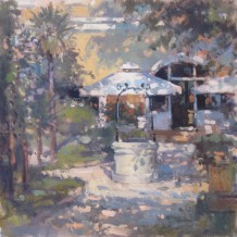 "John Martin Born 1957HOTEL KATARINA, ROVINJ Oil on canvas 16"" x 16"""