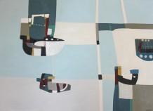 """Teresa Lawton DOCKLAND Oil on canvas 19.5"""" x 27.5"""""""