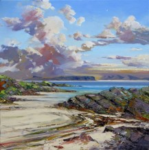 "John Bathgate EIGG AND RUM Oil 20"" x 20"""