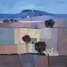 """Mary Pym  Born 1935HAMPSHIRE FIELDS  Oil on board  22.5"""" X 22.5"""""""