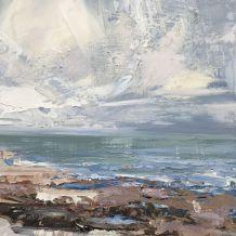 "Paul Treasure  Born 1961SILVER HERRING  Oil on canvas  16"" X 16"""